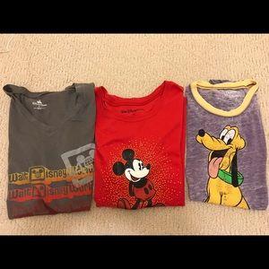 Lot of 3 Disney Women's T-shirts - EUC